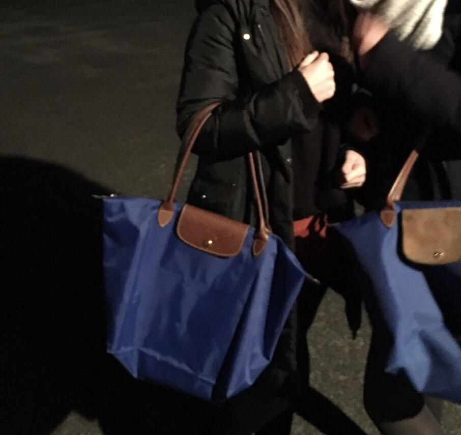 Longchamp royal blue tote - used once
