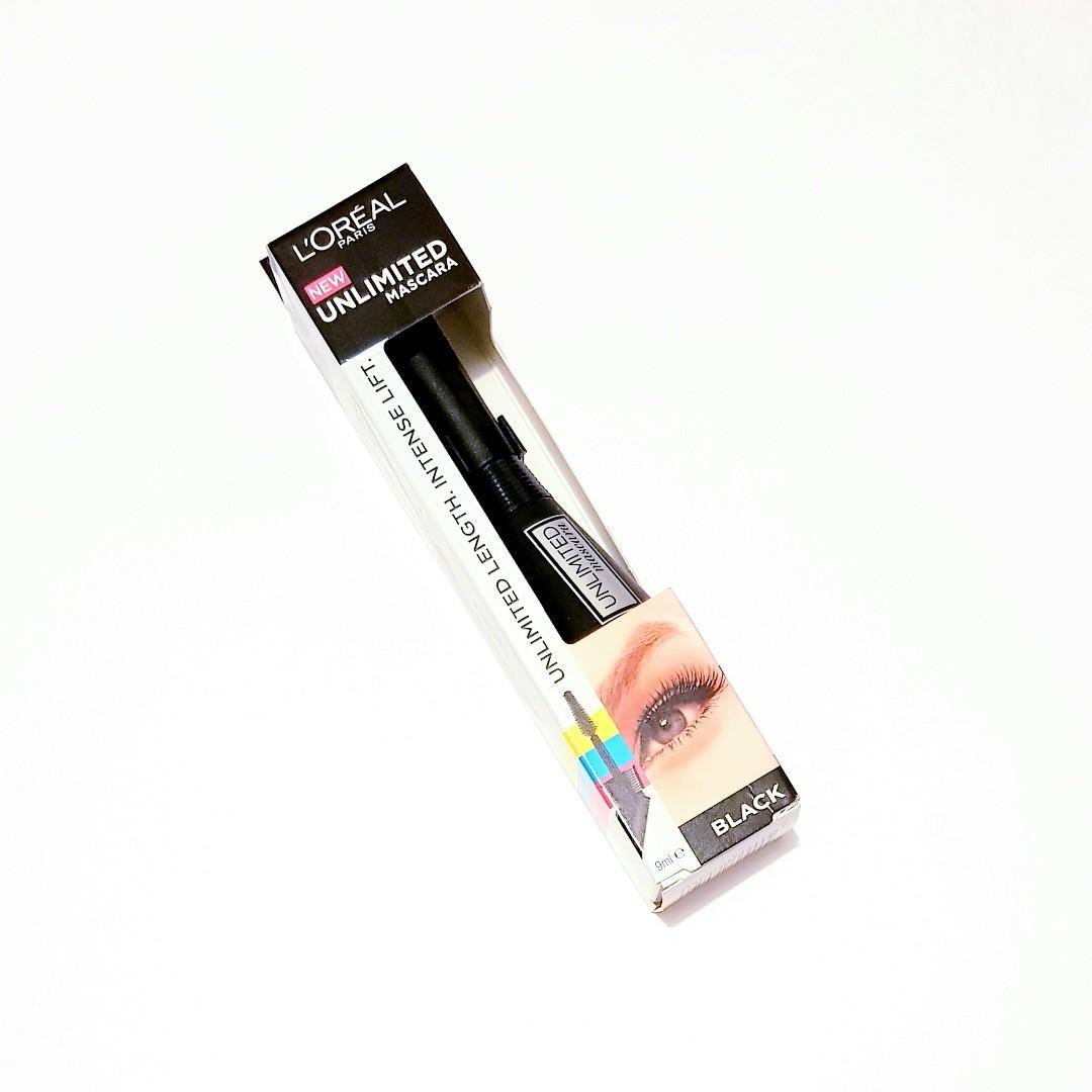 L'oréal Paris Duel Position Brush Unlimited Length Intense Lift Black Unlimited Mascara