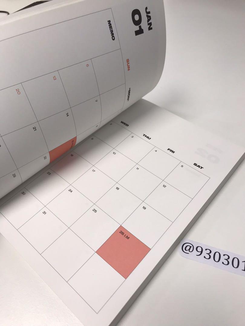 Official Monsta X 2019 Season's Greetings - Planner