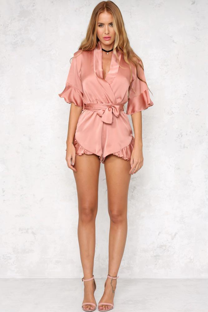 Playsuit Pink Size 10AU Brand New. Cute Sexy Cocktail Women Hello Molly Romper