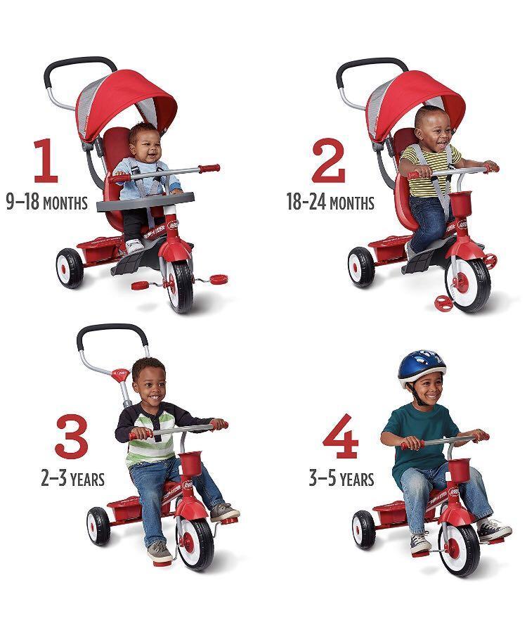 Radio Flyer 4-in-1 Stroll 'N Trike Tricycle