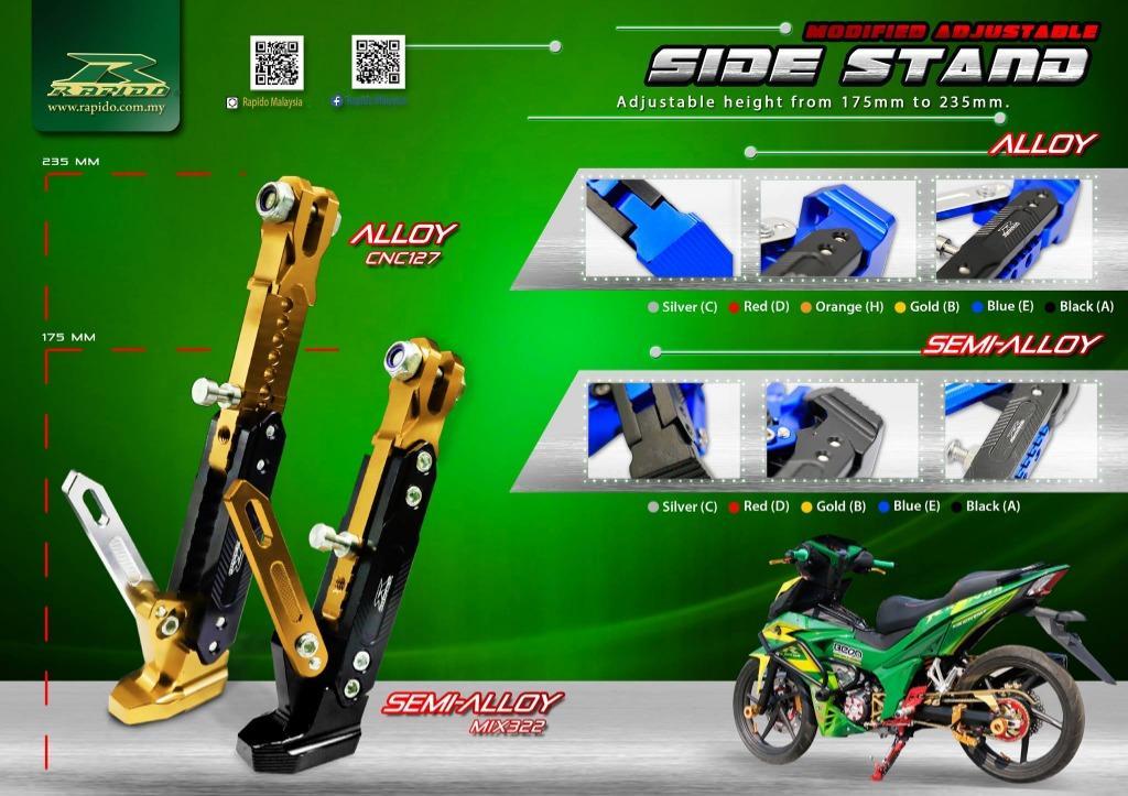 Rapido | Modified Adjustable Side Stand | Universal | 100% original