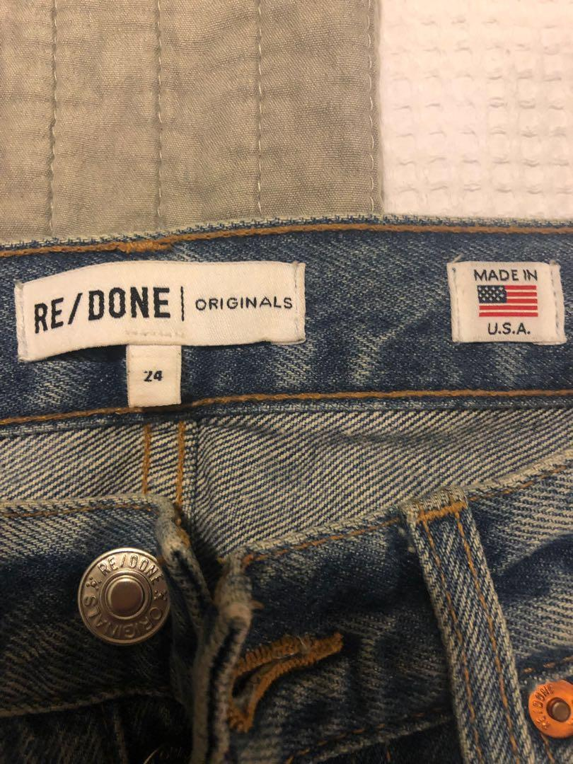 Re/done Levi's originals high rise ankle crop size 24