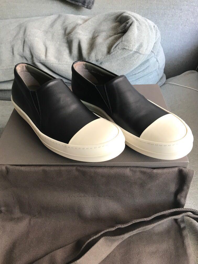 Rick Owens boat black sneakers, Men's