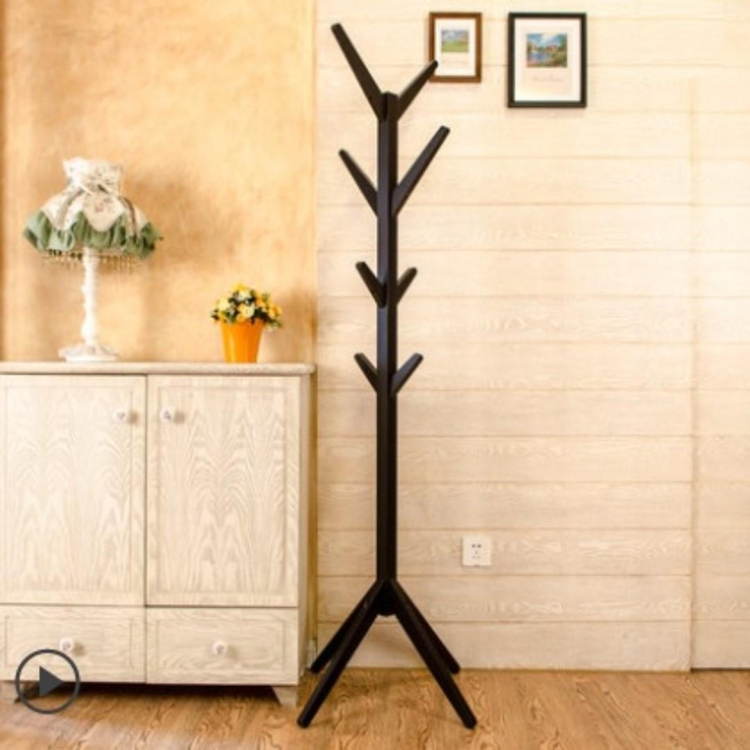 [SAVE5] Wooden Clothes Hanger Coat Stand