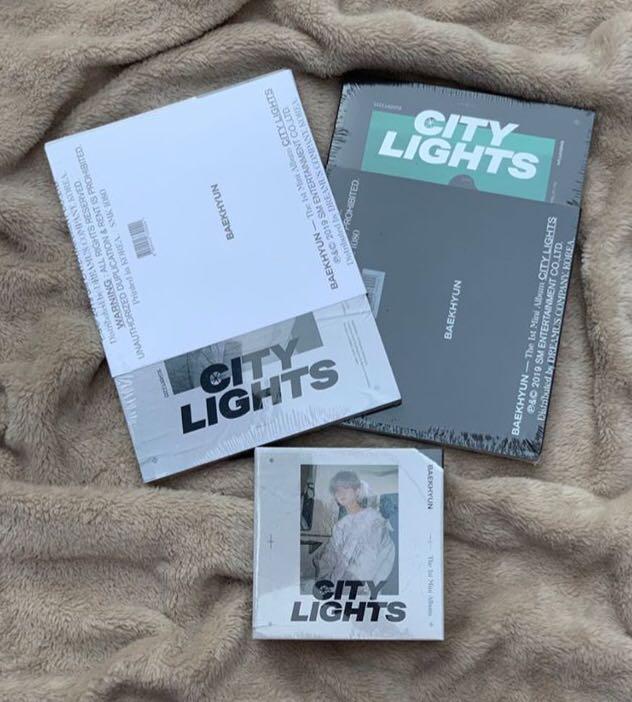 Sealed Baekhyun City Light Album and Kihno