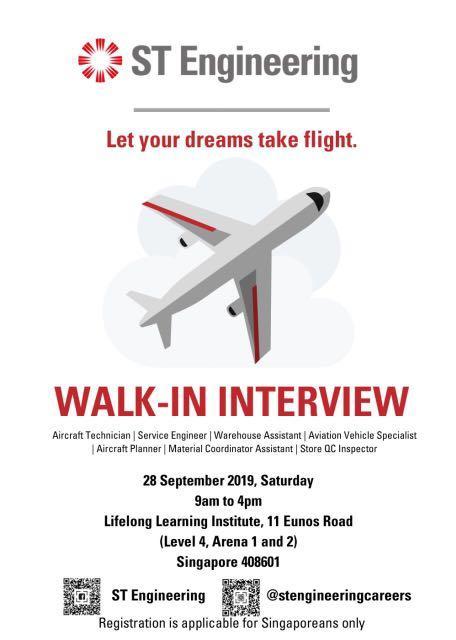 ST Engineering Walk-In Interview
