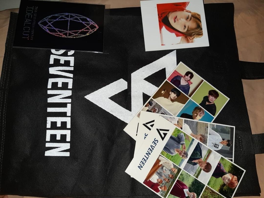 ALL (Sticker, Polaroid Mingyu, Tote Bag (tulisan Seventeen dibalik tulisan svt ideal cut), Foto All member unit