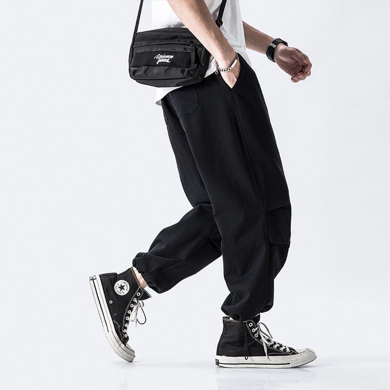 🇯🇵🇰🇷日韓系Streetwear簡約工裝褲束腳褲