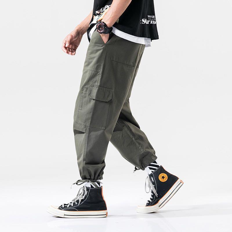 🇯🇵🇰🇷日韓系Streetwear多袋工裝褲束腳褲