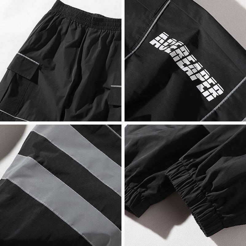 🇯🇵🇰🇷日韓系Streetwear撞色束腳褲運動褲