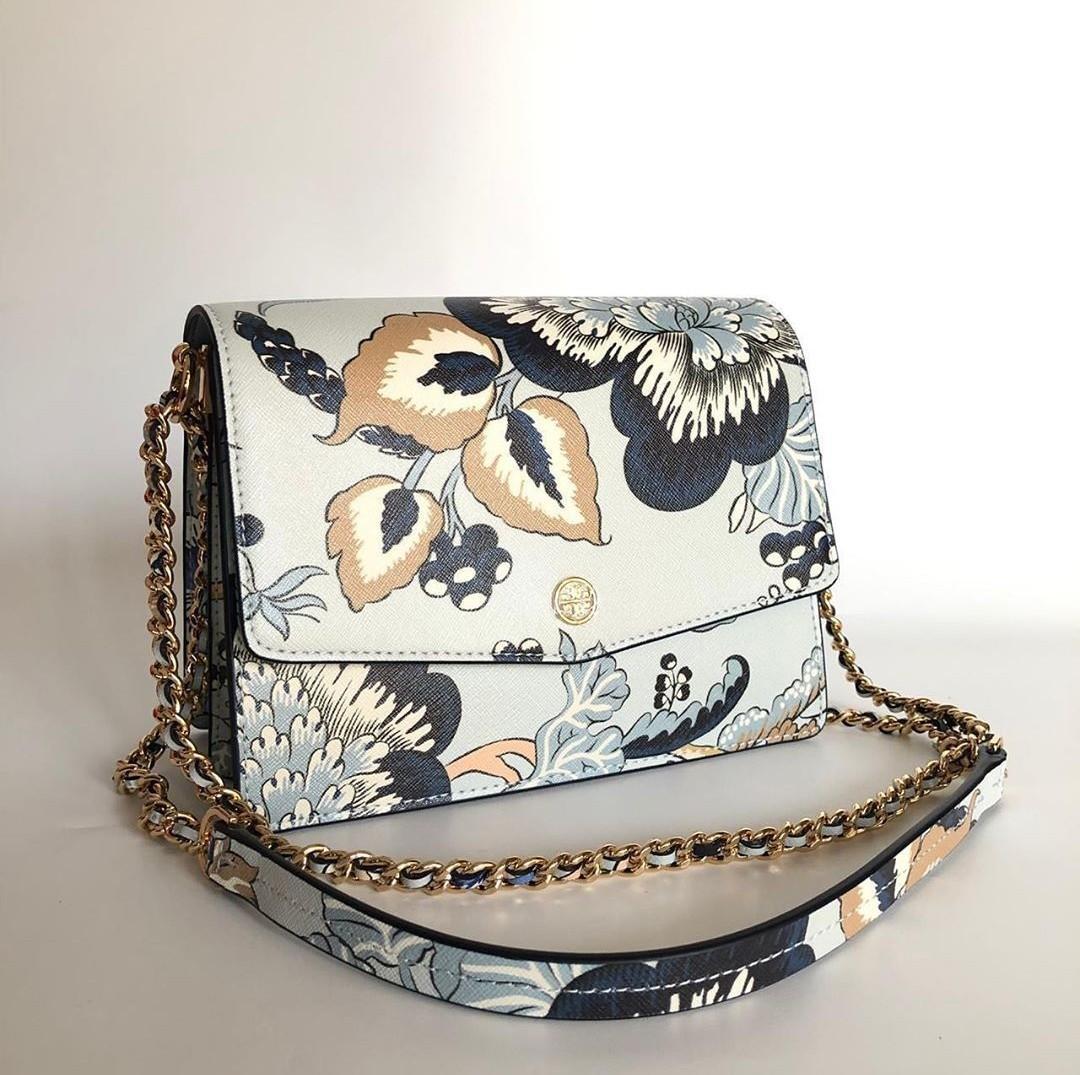 Tb robinson flora convertible shoulder bag blue happy size 22 x 17 cm