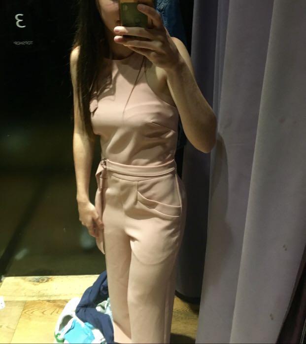 Topshop blush pantsuit