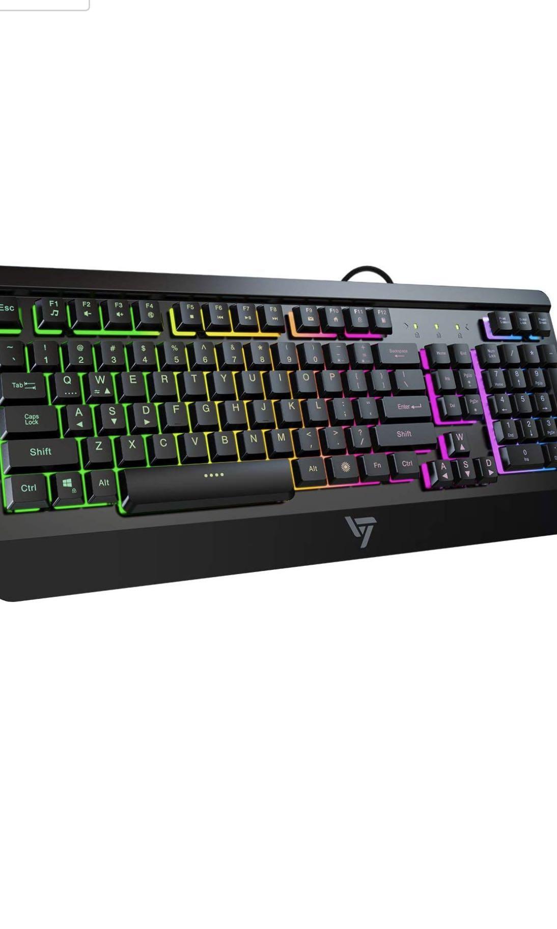 Quiet All-Metal Panel Keyboard Gaming Keyboard VicTsing USB Wired Keyboard