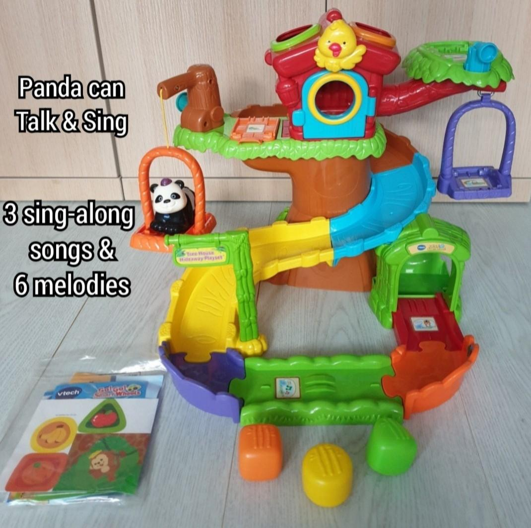 Vtech : 1 to 5 years old: Go! Go! Smart Animals Tree House Hideaway Playset Toys Go Go - Talking Panda with 3 Sing Along Songs & 6 Melodies Toy