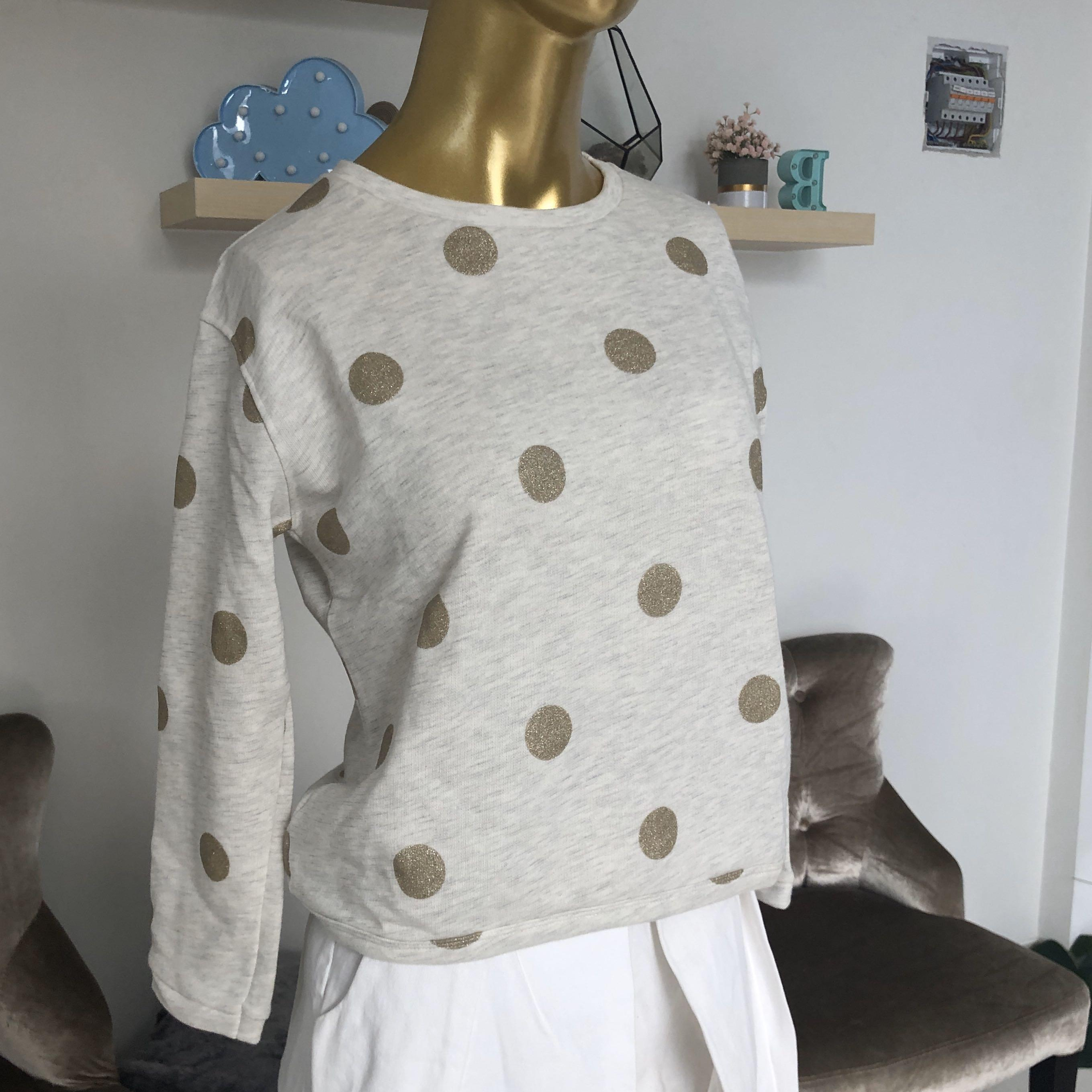 Zara kids | gold polka sweater