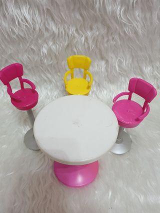 Barbie Bar Stool & Table