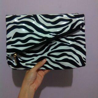Sling bag zebra clutch