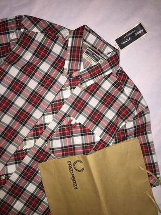 Authentic fred perry reissue tartan shirt bnwt