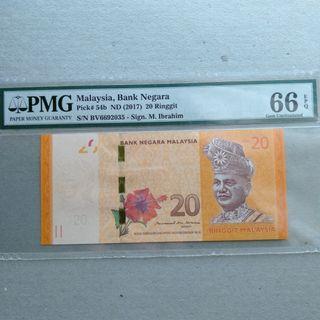 RM20 BV66 MBI PMG 66 GEM UNC