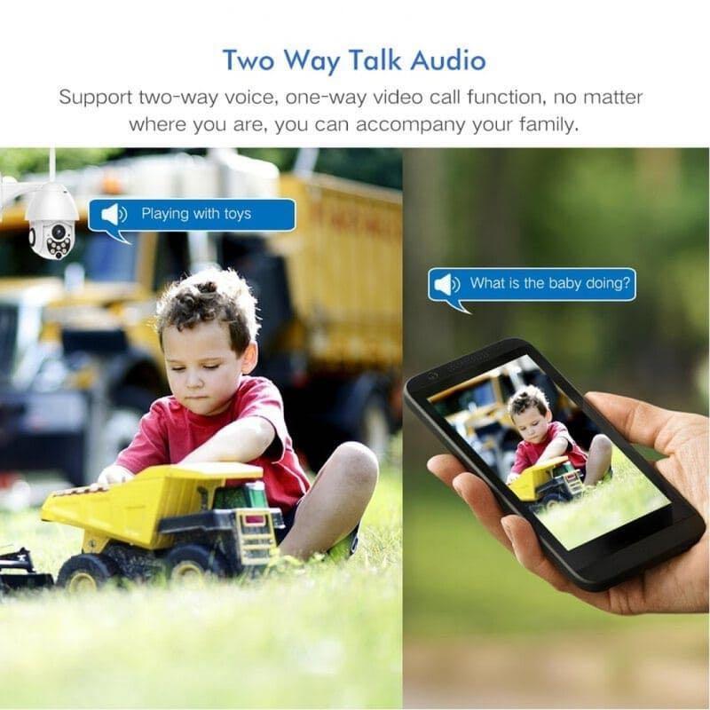1080P Wireless PTZ IP Camera 4X Zoom IR Night Vision