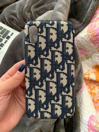Dior print iPhone X case
