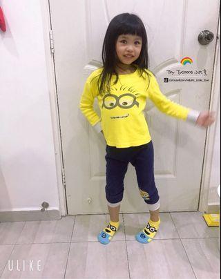 Minions Girls Pyjamas  👧🏻 小黃人女童睡衣套裝