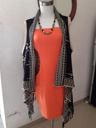 Midi dress orange