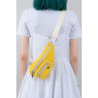 Lacoste 黃色腰包 古著 二手
