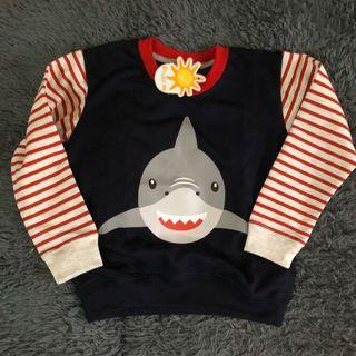 Sweater anak jaket little m shark