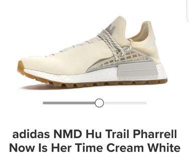 pharrell nmd cream gum size 5.5uk 6us