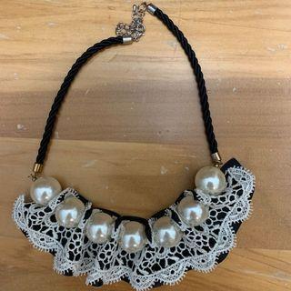 珍珠蕾絲項鍊