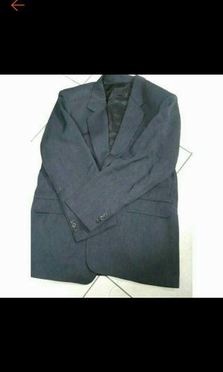 西服外套黑色訂做2顆扣子肩寬45胸寬47袖長60衣長75cm剛送洗很優