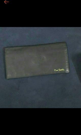 皮爾卡登長皮夾軟皮4隔層2小袋18.5x24x9.5cm使用過
