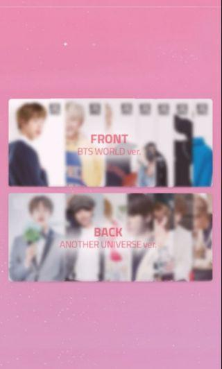 BTS WORLD DOUBLE SIDED PC