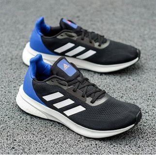 Adidas Solar Drive Run Bosst Black White Blue Original