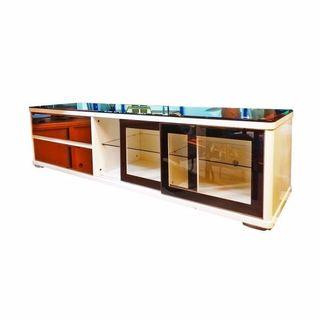 TV Cabinet with Glass Top BF