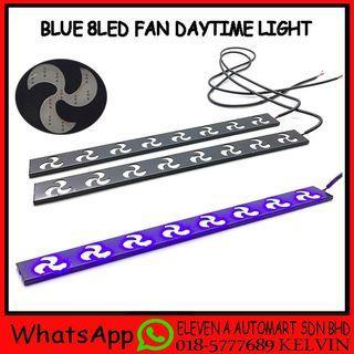 BLUE 8LED FAN DAYTIME RUNING LIGHT