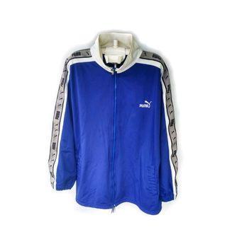 Vintage.. puma side tape big logo blue sweater
