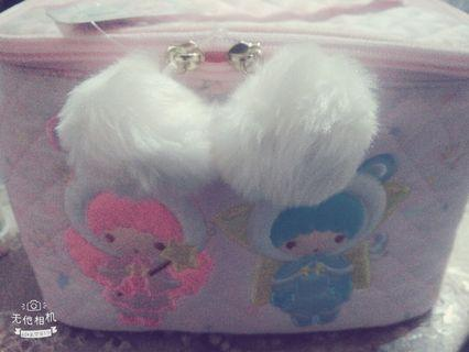 粉紅天使化妝包