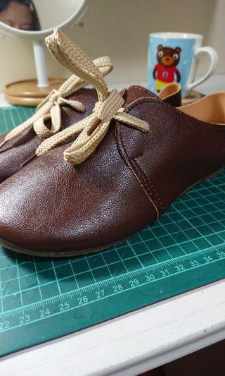 豆豆鞋 咖啡色 平底鞋