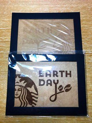 Starbucks 星巴克地球日咖啡渣砂畫