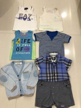 嬰幼兒名牌衣服組合 共六件