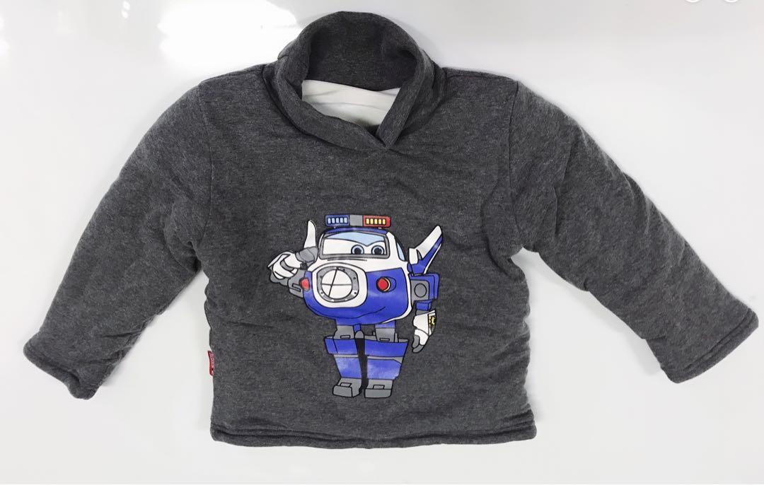 二手2歲半到3歲半90到100公分加絨加厚冬季純棉寶寶打底衫中小童韓版男女童兒童衛衣