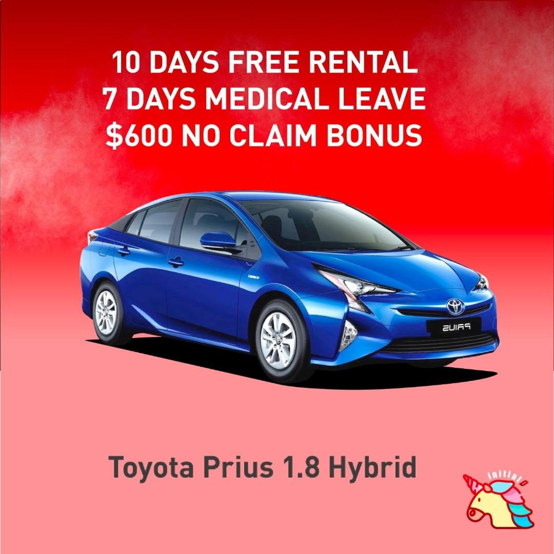 PRIUS HYBRID FOR GRAB AND GOJEK RENTAL