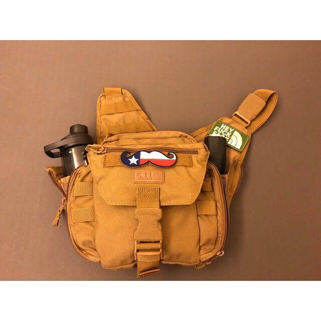 5.11 Tactical PUSH™ PACK 側背包(包含美國鬍子臂章、HEY FUCK FACE臂章)