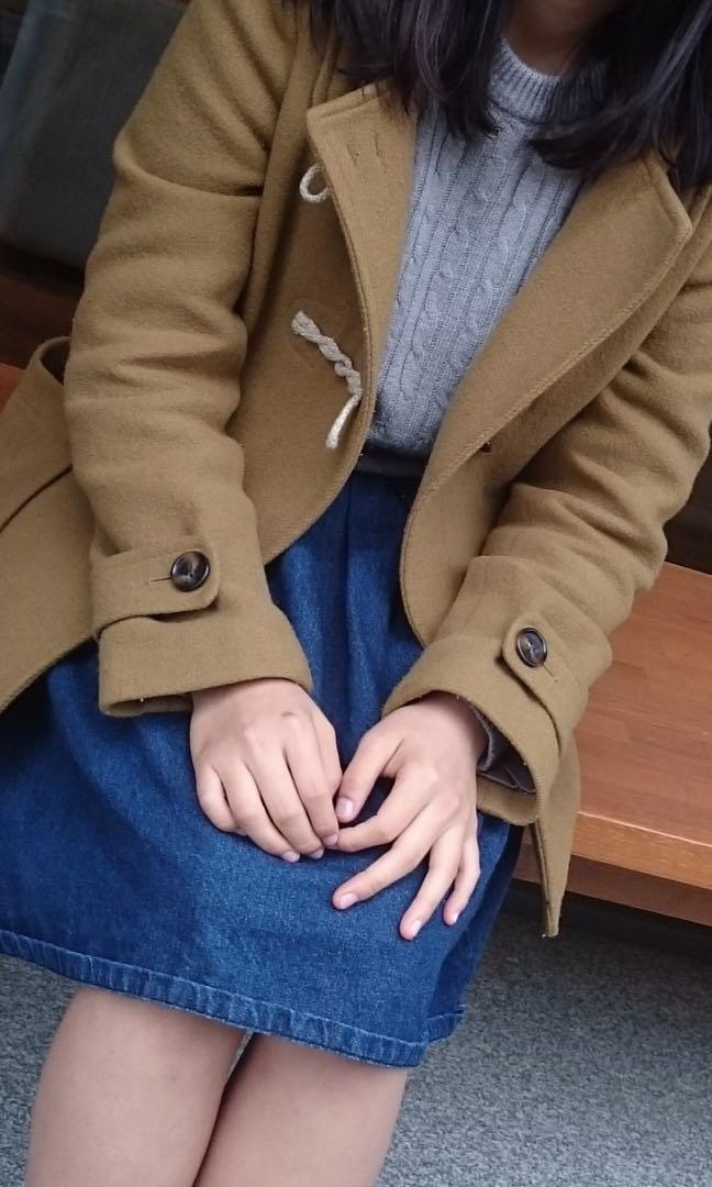 無印良品牛角扣大衣(羊毛85%)(降價)