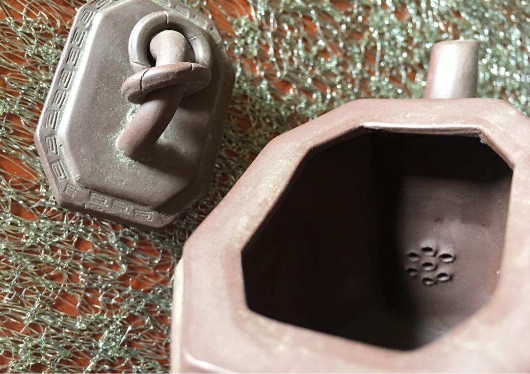 宜興紫砂壺》壺蓋上雙環》早期收藏》未使用品(出水慢)