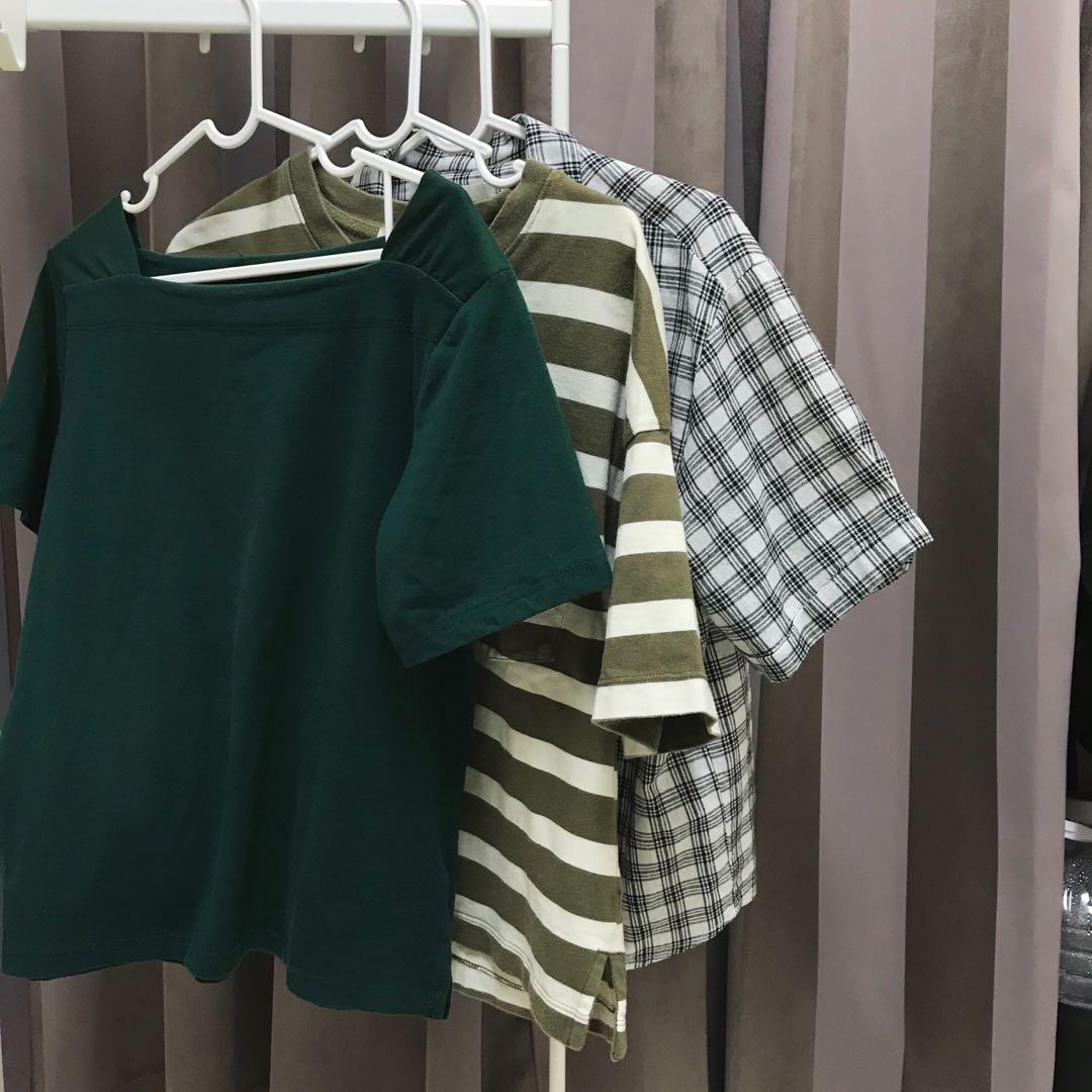 短袖格子襯衫/日系妹仔的衣櫥