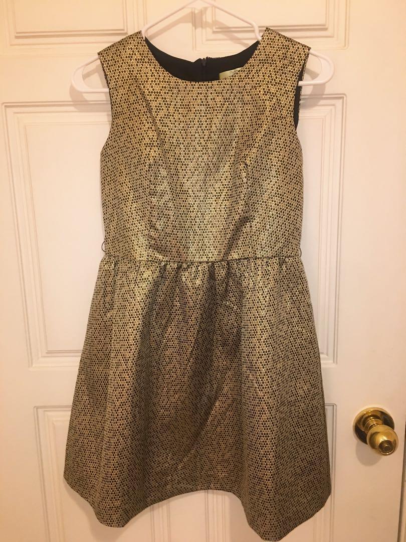 金色 洋裝